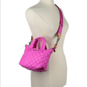 MZ Wallace Micro Hot Pink  Sutton Punch Crossbody